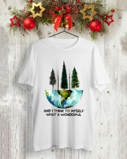 Myself What A Wonderful World Classic T-Shirt lifestyle-holiday-crewneck-front-2