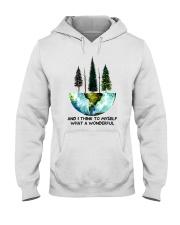 Myself What A Wonderful World Hooded Sweatshirt thumbnail