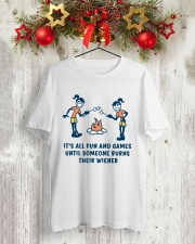 Someone Burns Their Wiener Classic T-Shirt lifestyle-holiday-crewneck-front-2