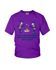 Someone Burns Their Wiener Youth T-Shirt thumbnail