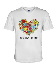 To be humble at heart V-Neck T-Shirt tile