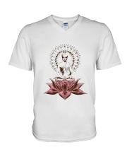 Yoga Mandala Style V-Neck T-Shirt thumbnail