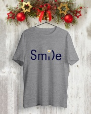 SMILE FLOWER Classic T-Shirt lifestyle-holiday-crewneck-front-2