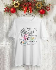 DON'T FORGET TO SMILE Classic T-Shirt lifestyle-holiday-crewneck-front-2