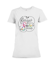 DON'T FORGET TO SMILE Premium Fit Ladies Tee thumbnail