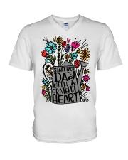 START EACH DAY WITH A GRATEFUL HEART V-Neck T-Shirt thumbnail