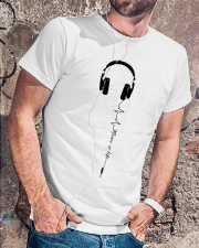 MUSIC IS LIFE Classic T-Shirt lifestyle-mens-crewneck-front-4