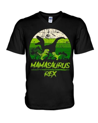 Mamasaurus Dinosaur 2 Kids Retro Vintage Shirt
