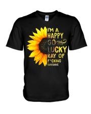 I'M A HAPPY GO LUCKY RAY OF FUCKING SUNSHINE SHIRT V-Neck T-Shirt thumbnail
