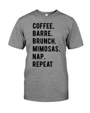 COFFE - BARRE - BRUNCH - MIMOSAS - NAP - REPEAT Premium Fit Mens Tee thumbnail