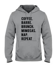 COFFE - BARRE - BRUNCH - MIMOSAS - NAP - REPEAT Hooded Sweatshirt thumbnail