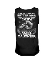 I ASK GOD TO MAKE ME A BETTER MAN AND AN ANGEL Unisex Tank thumbnail