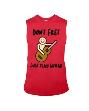 Don't Fret Just Play Guitar Sleeveless Tee front