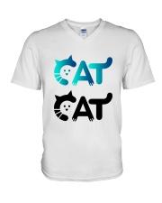 cat cat V-Neck T-Shirt thumbnail