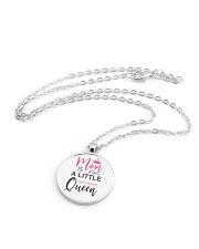 MOM IS A LITTLE JUST ABOVE QUEEN Metallic Circle Necklace aos-necklace-circle-metallic-lifestyle-03