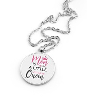 MOM IS A LITTLE JUST ABOVE QUEEN Metallic Circle Necklace aos-necklace-circle-metallic-lifestyle-05