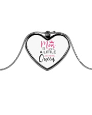 MOM IS A LITTLE JUST ABOVE QUEEN Metallic Heart Necklace thumbnail