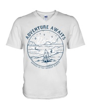 Desert Night Adventure Awaits V-Neck T-Shirt thumbnail
