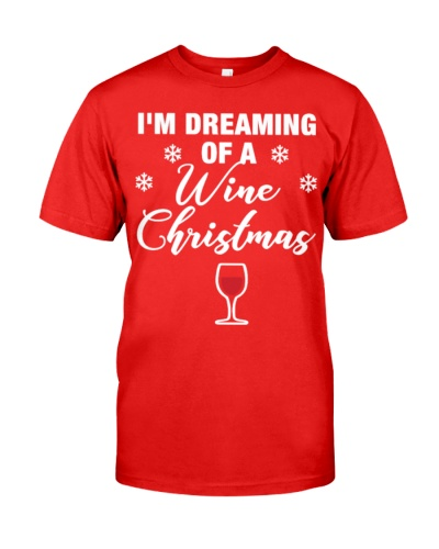 Dreaming of Wine Christmas Funny fo