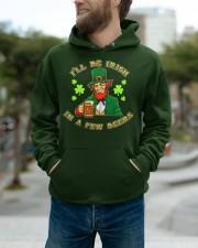 St Patricks Day I'll be Irish Hooded Sweatshirt apparel-hooded-sweatshirt-lifestyle-front-111