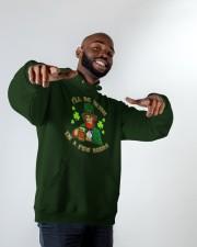 St Patricks Day I'll be Irish Hooded Sweatshirt apparel-hooded-sweatshirt-lifestyle-front-12