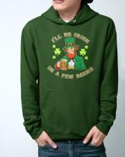 St Patricks Day I'll be Irish Hooded Sweatshirt apparel-hooded-sweatshirt-lifestyle-front-44