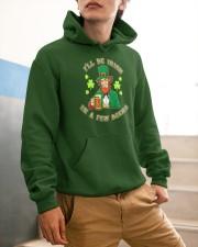 St Patricks Day I'll be Irish Hooded Sweatshirt apparel-hooded-sweatshirt-lifestyle-front-56