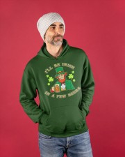 St Patricks Day I'll be Irish Hooded Sweatshirt apparel-hooded-sweatshirt-lifestyle-front-80