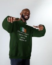 IRISH PARTY FOR ST PATRICK'S Hooded Sweatshirt apparel-hooded-sweatshirt-lifestyle-front-12