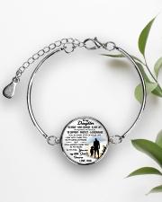 MY DAUGHTER - DAD STVT290101HD  Metallic Circle Bracelet aos-bracelet-metal-front-lifestyle-4