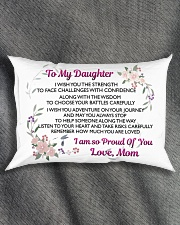 MY DAUGHTER - MOM Rectangular Pillowcase aos-pillow-rectangle-front-lifestyle-1