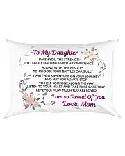 MY DAUGHTER - MOM Rectangular Pillowcase back