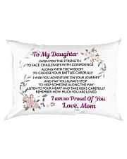 MY DAUGHTER - MOM Rectangular Pillowcase front