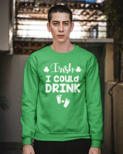 Irish I Could Drink St Patricks Pregnancy Announce Crewneck Sweatshirt apparel-crewneck-sweatshirt-lifestyle-02