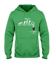 From Monday to St Patrick's Day Hooded Sweatshirt front