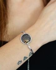 MY DAUGHTER - MOM STVT290101HD  Metallic Circle Bracelet aos-bracelet-metal-front-lifestyle-12