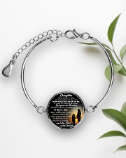 MY DAUGHTER - MOM STVT290101HD  Metallic Circle Bracelet aos-bracelet-metal-front-lifestyle-4
