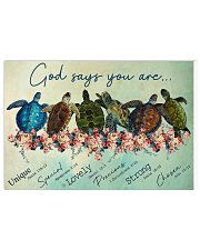 Zalooo Overcome Turtle Wall Art Canvas Horizontal Poster tile