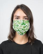 Irish Shamrock 2 Layer Face Mask - Single aos-face-mask-2-layers-lifestyle-front-16