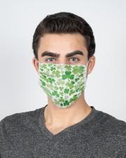 Irish Shamrock 2 Layer Face Mask - Single aos-face-mask-2-layers-lifestyle-front-20