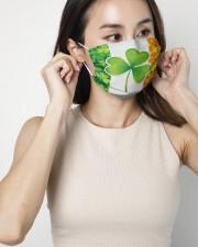 Ireland Shamrock  2 Layer Face Mask - Single aos-face-mask-2-layers-lifestyle-front-05