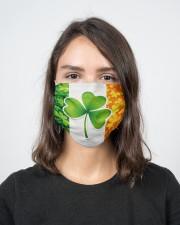 Ireland Shamrock  2 Layer Face Mask - Single aos-face-mask-2-layers-lifestyle-front-16