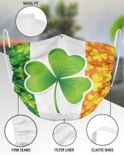 Ireland Shamrock  2 Layer Face Mask - Single aos-face-mask-2-layers-lifestyle-front-51