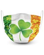 Ireland Shamrock  2 Layer Face Mask - Single front
