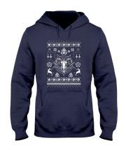 Gothic Satanic Christmas Hooded Sweatshirt thumbnail