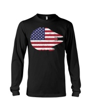 Wars the millennium falcon American flag t-shirt Long Sleeve Tee tile