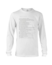 Gibbs' Rules Long Sleeve Tee front