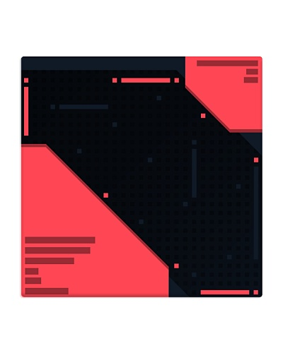 Modern red glitch