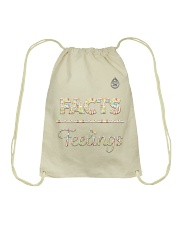 The Facts Over Feelings 'GhettoMusick' pack Drawstring Bag thumbnail
