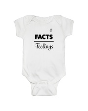 Facts Over Feelings Blk Onesie thumbnail